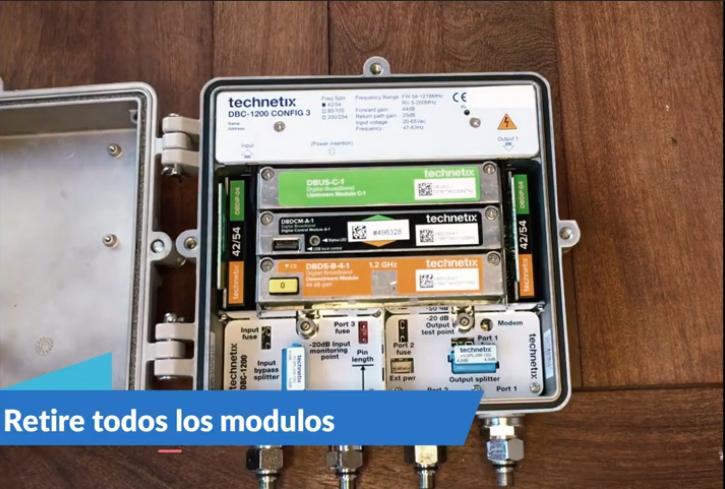 Actualización de Amplificador DBC-1200 a Nodo 1×1